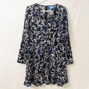 Simply Vera Wang Floral Long Sleeve Dress Career S
